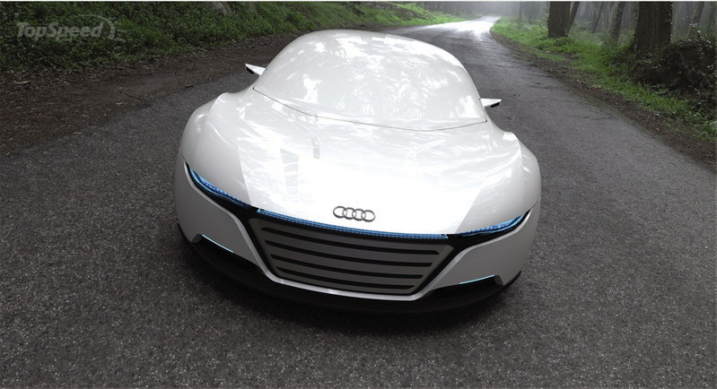 Audi A9 Concept Car Repairs Itself And Changes Colour