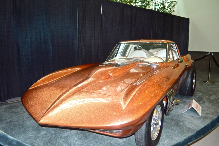 The 1963 Corvette Asteroid was on display to advertise an upcoming car auction