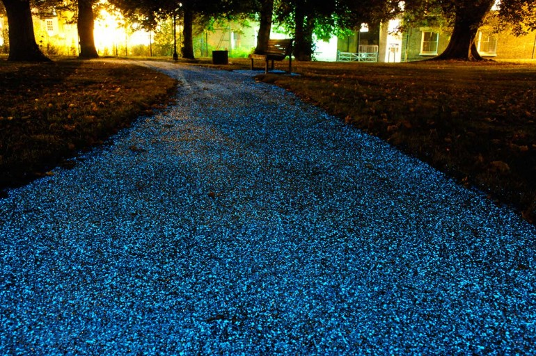 UK company Pro-Teq's glow-in-the-dark spray coating could prove a cheaper alternative to c...