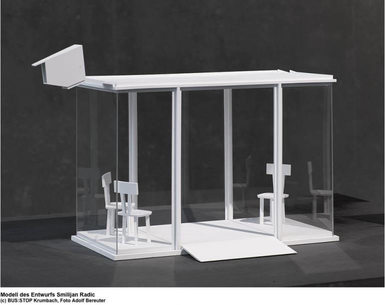 The model submission of Smiljan Radic (Photo: Adolf Bereuter)