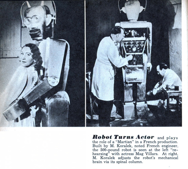 "From 1948. ""Robot turns actor""...turns killer. Just takes a brain adjustment."
